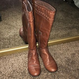 Brown Franco Sarto leather Boots
